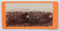 Cannes Francia Foto Noack Stereo di Carta Albume D'Uovo Vintage Ca 1870