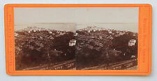 Cannes France Photo Noack stéréo Papier albuminé Vintage ca 1870