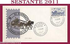 ITALIA FDC SILIGATO GIORNATA DEL FRANCOBOLLO 1969  ANNULLO  MILANO G191