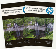 HP Photo-smart Platinum Matte Vivid~~4 x 6 Borderless Photo Paper~100ct~10 mil
