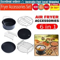6Pcs Set Air Fryer Accessories Cake Pizza BBQ Roast Barbecue Baking Pan Tray