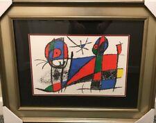 Joan Miro Hand Signed Lithograph  1975 COA