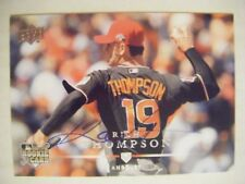 RICH THOMPSON signed ANGELS 2008 Upper Deck baseball card AUTO Autographed A's