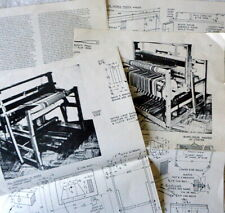 New listing Vintage Craftplans Weaving Loom Carpentry Plans 4-Harness 6-Treadle Pattern Rugs
