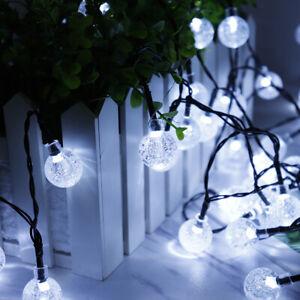 50 LED 9.5M Fairy String Crystal Ball Bulb Light Outdoor Wedding Garden Party