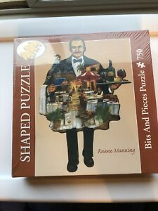 Ruane Manning 750 Piece SHAPED PUZZLE BITS & PIECES Factory Sealed NEW!