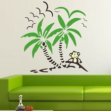 Monkey Palm Tree Beach Vinyl Wall Decals Kids Sticker Nursery Baby Decor
