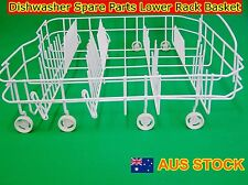 Dishwasher Spare parts Lower Rack Basket - Suits Many OEM Brands (White) (New)