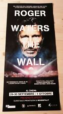 ROGER WATERS THE WALL Locandina Cinema 33x70 Poster Evento Originale Pink Floyd