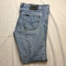 "Harley Davidson Womens Boot Cut Jeans Size 8 Long Light Wash Denim 32"" inseam"