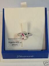 anello donna blu amante argento 925 anallergico zirconi verde rosso misura 14