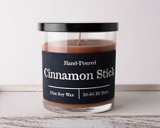 Jar Candle Cinnamon Stick Scented Soy Wax 12oz Hand Poured New Fall Scent
