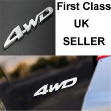 Metal Cromado Coche 3D 4WD calcomanía emblema insignia Camión Adhesivo Auto Motor Adhesivo S48