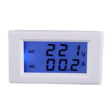Digital AC 100-300V 50A Ammeter Voltmeter Blue LCD Display Volt Amp Panel Meter