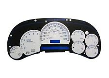 03 04 05 06 07 GMC & Chevy Instrument Cluster Faceplate Black/White Blue Numbers