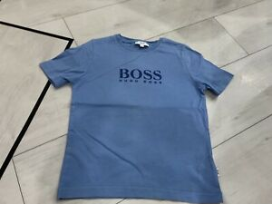 Boys Designer Hugo Boss T-shirt Age 5 Years Good Condition