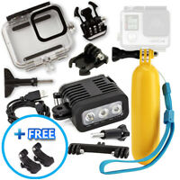 Scuba Divers Bundle for GoPro HERO8 with Underwater Housing, LED Light & Floaty