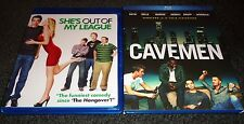 SHE'S OUT OF MY LEAGUE & CAVEMEN-2 movies-JAY BARUCHEL,SKYLAR ASTIN,CAMILLA BELL