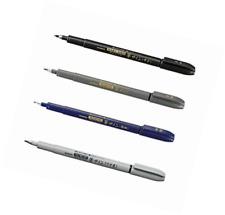 Zebra Fude Sign Brush Pen Regular Extra Fine Medium Usu-Zumi Gray Ink Value Set