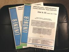 Lindner Uniplate Clear Pages 2 Packages New Unopened 083 3 Pockets 5 Pages Ea |