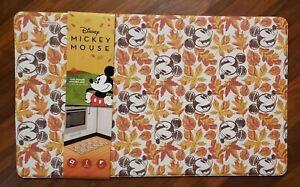 Disney Mickey Mouse Anti Fatigue Kitchen Mat Fall Leaves Orange 18 x 30 Padded