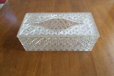 Vintage Trelawney Clear Acrylic Tissue Box Cover Holder Case Mcm Starburst 1963