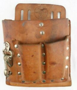 KLEIN 5164 heavy duty LEATHER TOOL CARRIER belt pouch bag..  USA