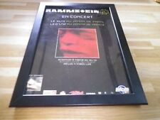 RAMMSTEIN - Concert - PUB ORIGINALE ENCADREE !! ORIG ADVERT FRAMED