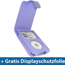 Lila PU Leder Tasche für Apple iPod Classic 80/120/160gb Schutz Hülle Case Etui