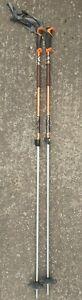 2 x Black Diamond TRAVERSE Flicklock 2 Piece 145cm Ski Poles - Used