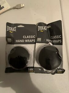 """Lot Of 2 EVERLAST Classic 120"""" Hand Wraps Boxing MMA Sports Training New"""