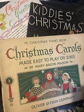 3 Vintage Christmas Songbooks Sheet Music Christmas Greetings Kiddies' Carols