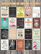 20 verschiedene Spruchkarten mit frechen Sprüchen, Statements 10,5 x 14,8 cm