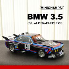 1:18 Scale Minichamps BMW 3.5 CSL ALPINA-FALTZ 1976 Diecast Car Model Collection