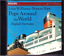 John WILLIAMS & BOSTON POPS AROUND THE WORLD CD Bernstein Glinka Rossini Auber