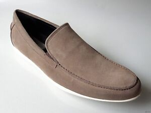 new mens KENNETH COLE 'Home Body' taupe/gray suede slip-on loafers - comfortable