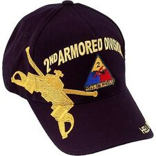 US ARMY 2nd Armored Division Ball Cap Second Armor Gulf War Hell On Wheels Hat