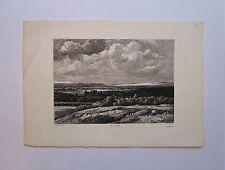 Eau-Forte, En Gueldre, Th. Chauvel d'après Philip Koninck, v. fin XIXè