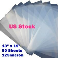 "Waterproof Inkjet Milky Transparency Film 13"" x 19"" - 50 Sheets/Pack US Stock"