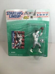 1997 NFL Starting Lineup DEION SANDERS Prime Time Cowboys Durag Figure Card MIP