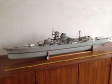 Kriegsmarine Modell Schlachtschiff Zerstörer Holz Und Blech 150 cm KEIN Bausatz