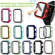 For Apple Watch Series 5/4/3 Bumper Case 38mm-44mm + Full Cover Screen Protector