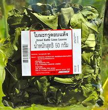 Kaffir Lime SUN foglie secche 50g THAI COTTURA Tom Yum sano tè FREE post int