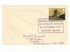 GREAT BRITAIN 1971 RUGBY NEATH V BARBARIANS CENTENARY MATCH CANCEL ON COVER