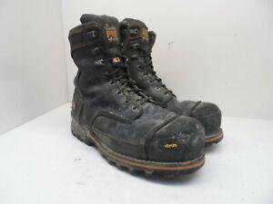 "Timberland PRO Men's 8"" Boondock Nylon 200G Work Boots A1VYP Black-Nylon 9.5W"