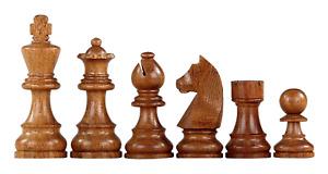 "Downhead German Staunton Chess Pieces Sheesham Boxwood 3"""