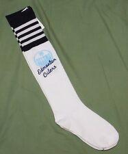 Womens Edmonton Oilers Fan NHL Hockey logo knee high socks sz 9-11 NWOT New
