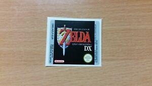 Gameboy The Legend of Zelda Link's Awakening DX Replacement Label Decal Sticker