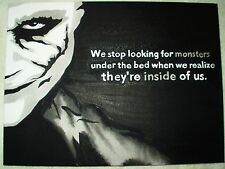 Canvas Painting Dark Knight Joker Monsters Inside Quote Art 16x12 inch Acrylic