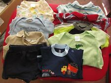 Lot of 10 infant boy 0-6M Medium 3M 3-6M 6-9M sleeper romper onsesie short shirt